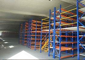 仓储阁楼平台货架的稳定性检测方法